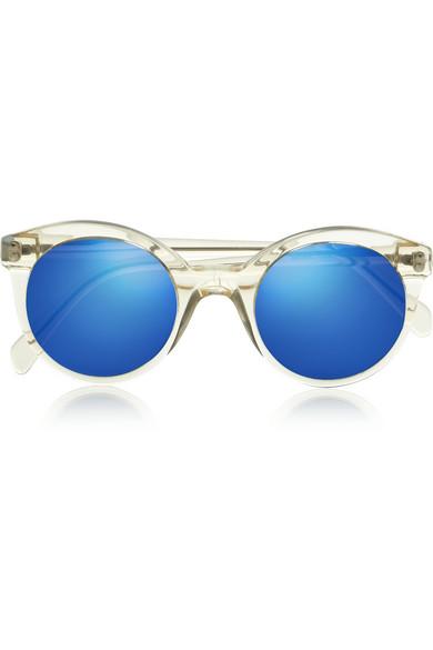 Illesteva|White Chapel cat eye acetate sunglasses|NET-A-PORTER.COM