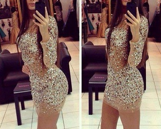 bodycon dress dress sparkle dress gold silver