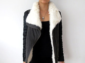 jacket,winter jacket,cozy,cozy jacket,black jacket,black,girl,fashion,zipper jacket,grey jacket,sweater,fur,shearling,leather jacket,grey,fur jacket,jeans,edgy jeans