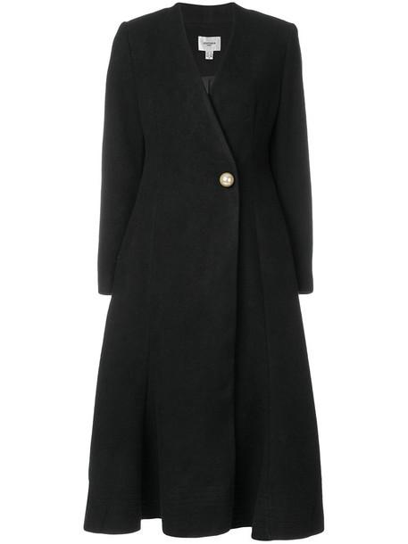 coat women moon black wool