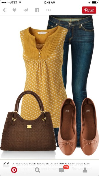 blouse yellow top