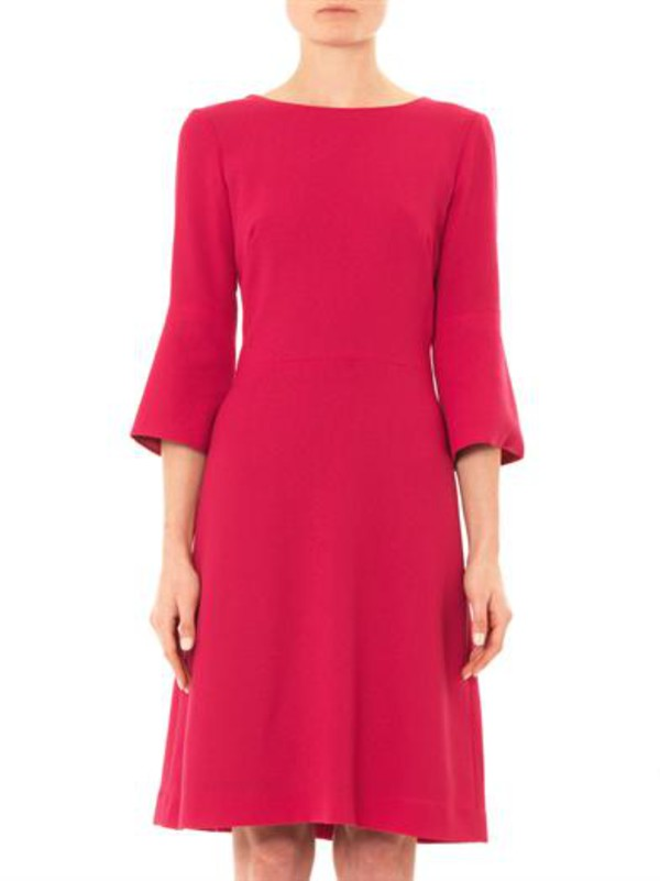 pandora wool-crepe shift dress goat