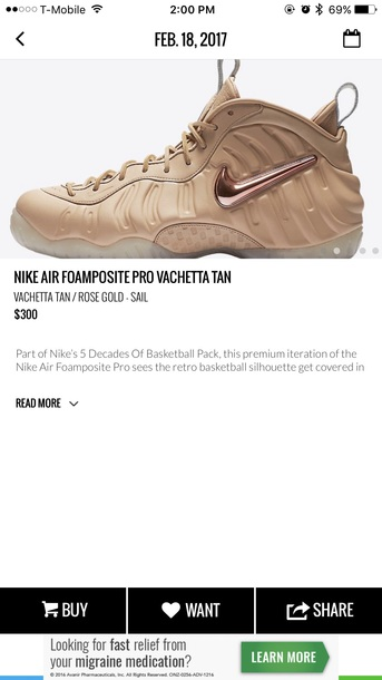 shoes tan pink 6.5 nike foamposites