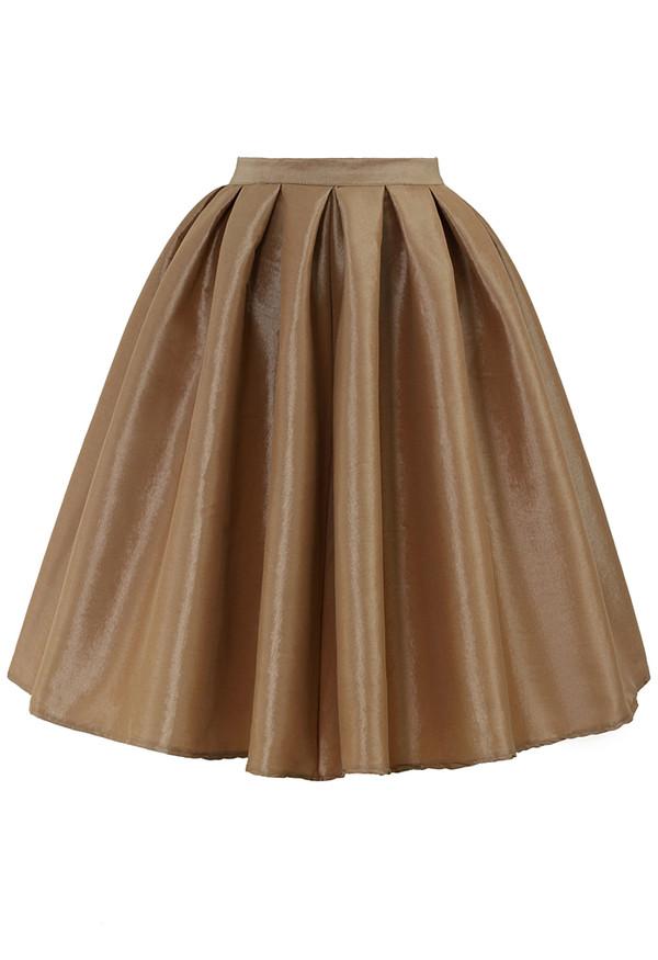 skirt champagne a-line midi skirt