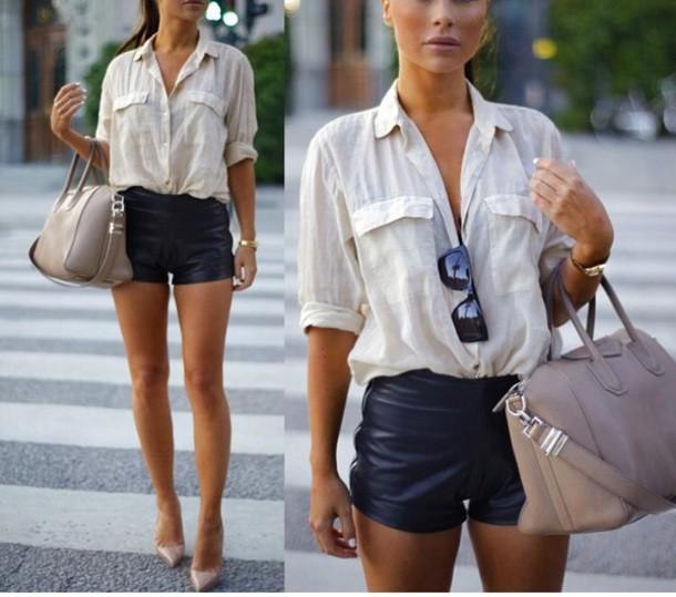 blouse beige blouse