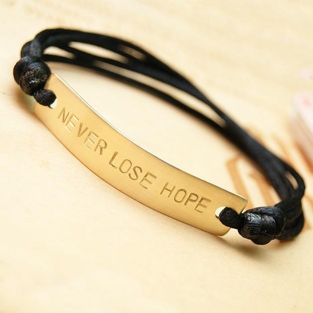 Braccialetti dell'amicizia -  braccialetto personalizzato con la parola o il no - un prodotto unico di SheBijou su DaWanda
