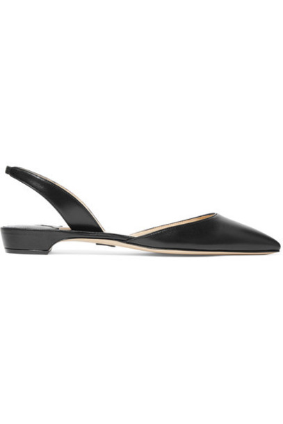 Paul Andrew flats leather black shoes