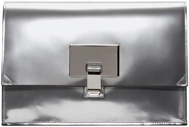 Proenza Schouler bag clutch silver