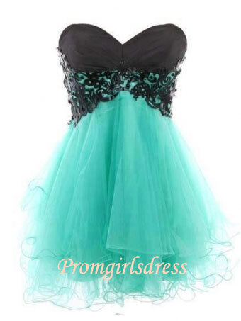 Little Sweetheart Strapless Homecoming Dress by Promgirlsdress