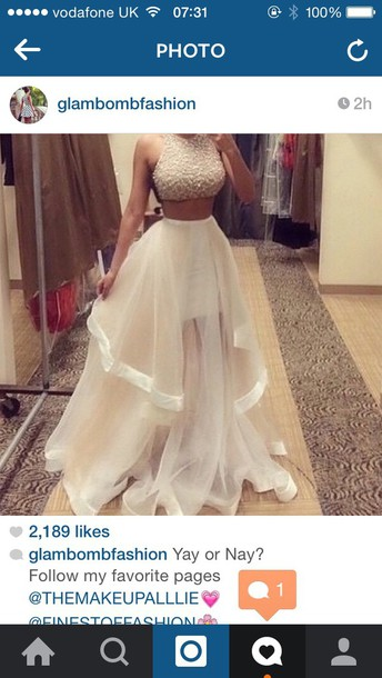 White prom dress white disney diamonds skirt instagram instagram