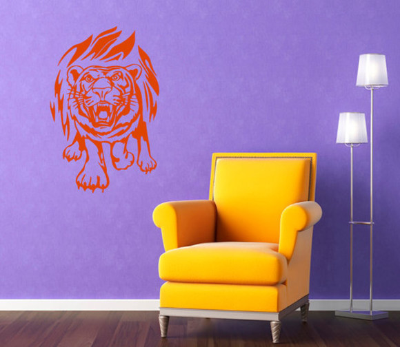 tiger print jewels animal vinyl decal