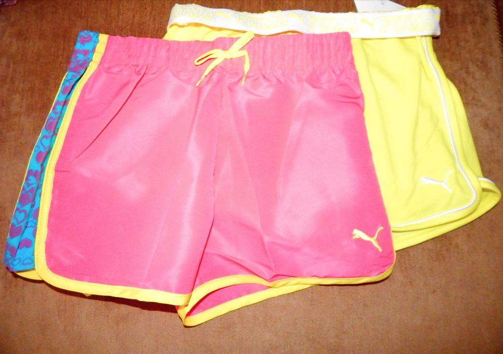 yellow puma shorts