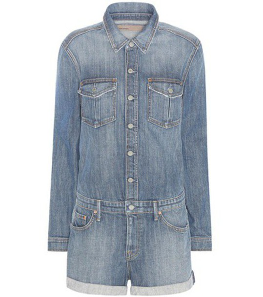 96e7b74307 Grlfrnd Rosie Denim Playsuit in blue - Wheretoget