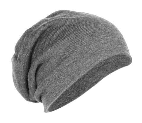 District dt618 light grey heather slouch beanie