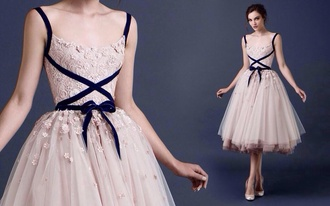 dress ballerina flowery prom dress