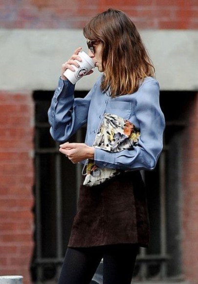 alexa chung skirt suede skirt suede mini skirt style street style steal