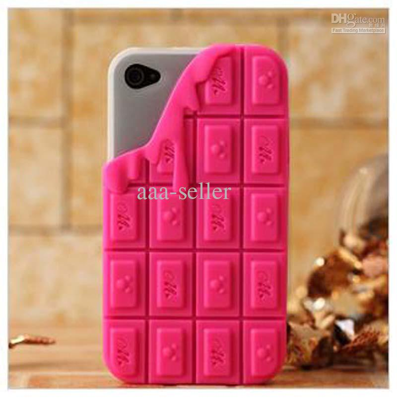 Buy melt chocolate silicone back cover case for iphone 4 4s mupods protector soft skin aaa