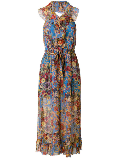 Zimmermann dress print dress long women floral print silk