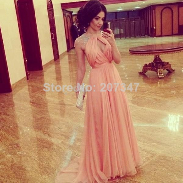 dress pink dress evening dress 2014 dresses tarik ediz dress
