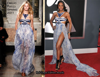 dress blue china blue ciara emilio pucci long dress maxi dress grey
