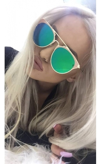 sunglasses mirror two tone oversized large aviator sunglasses gold green sunnies blogger holidays beach glasses cat eye mirrored sunglasses