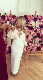 dress,off the shoulder,white,white dress,lace up,bodycon dress,bodycon,elegant,elegant dress,classy