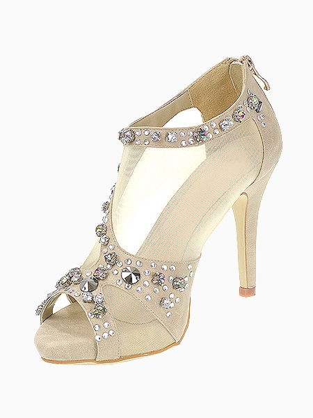 Mesh High Heel Sandals | Choies
