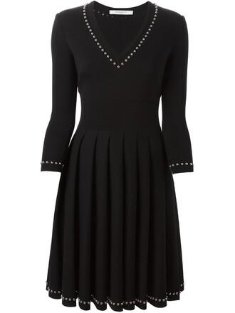 dress studded lace black