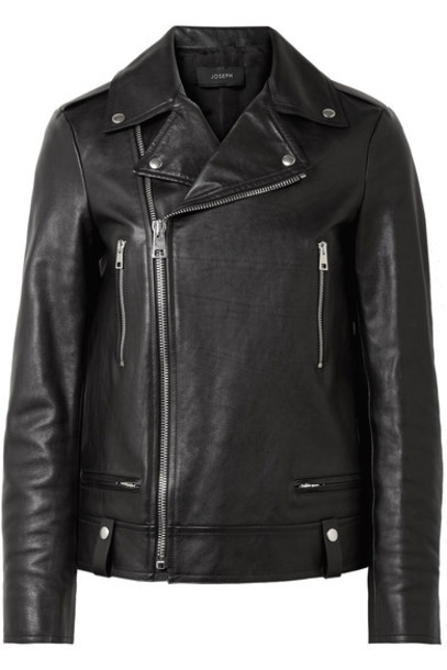 Joseph jacket biker jacket leather black