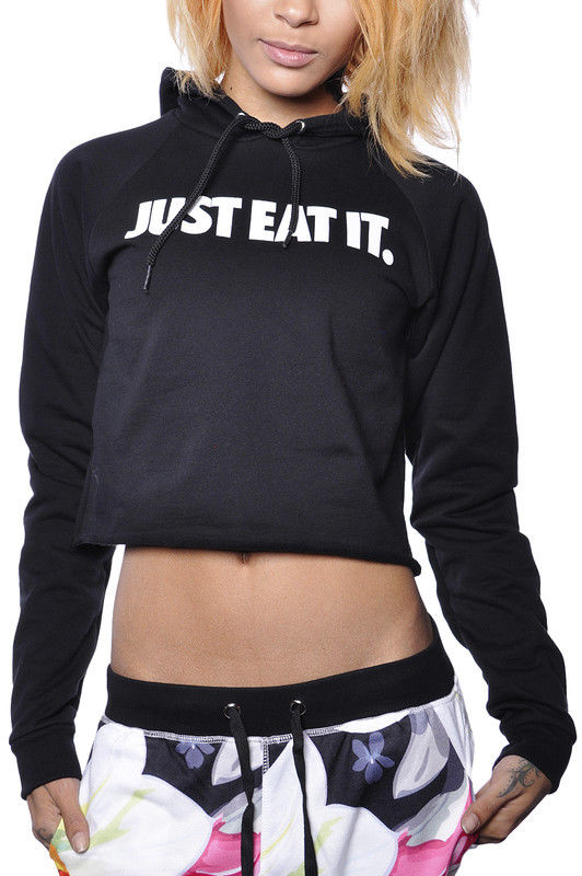 to The Mob MTTM Just Eat It Crop Top Hoodie Fleece Sweater ...