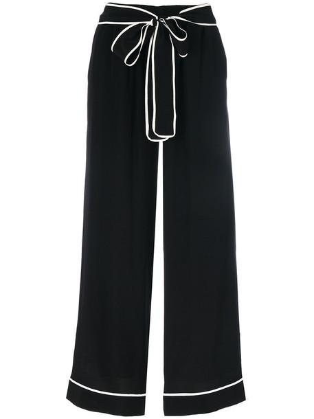 Gold Hawk pants women black silk