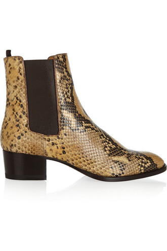 shoes python boots python saint laurent ankle boots chelsea boots