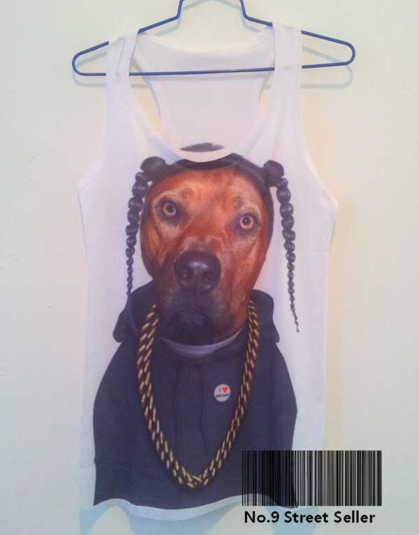Track Ship Vintage Printed Retro Cool Vest Tanks Tank Tops Camis Famous Rapper Rap Singer Dog Gold Chain-in Tops & Tees from Apparel & Accessories on Aliexpress.com