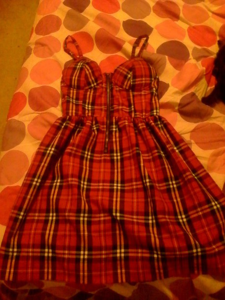 dress bustier corset dress plaid dress
