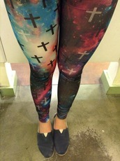 jeans,galaxy print,hipster,cross