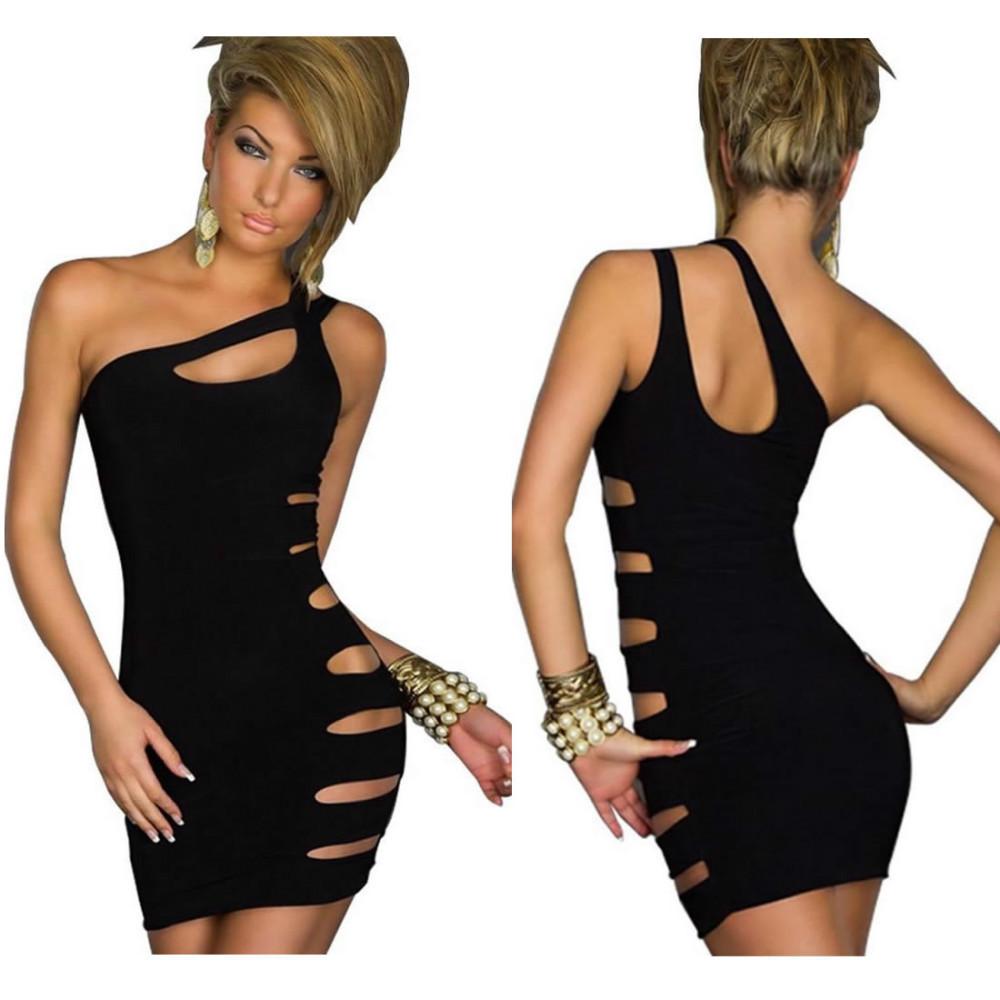 M XL Plus Size 2014 New Fashion Women Sexy Off the Shoulder Asymmetrical Hollow Out Mini Bodycon Dress Bandage Dress N086 | Amazing Shoes UK