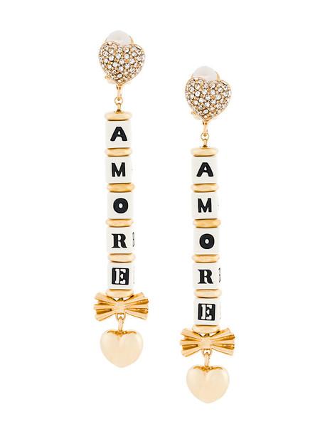 Dolce & Gabbana women earrings grey metallic jewels
