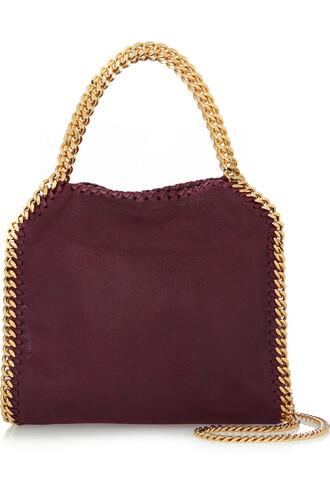 mini bag shoulder bag leather burgundy