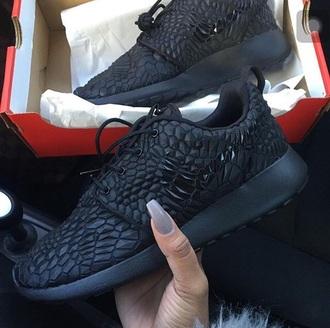 shoes nike shoes nike black leather