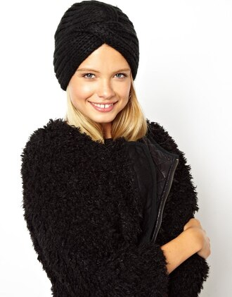coat autumn asos blondie cute black turban hat