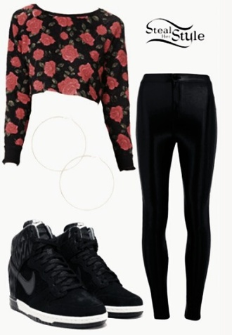 spring outfits leather leggings black sneakers