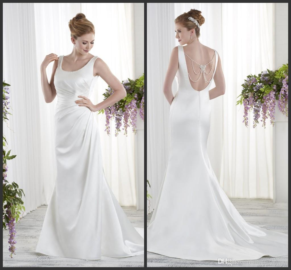Mermaid Wedding Dresses Backless Sexy Design Count Train