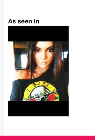 shirt kendall jenner guns and roses