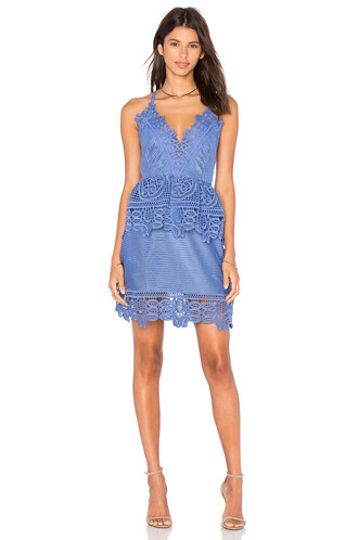dress peplum dress lace blue