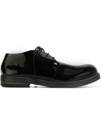 women classic shoes lace-up shoes lace leather black
