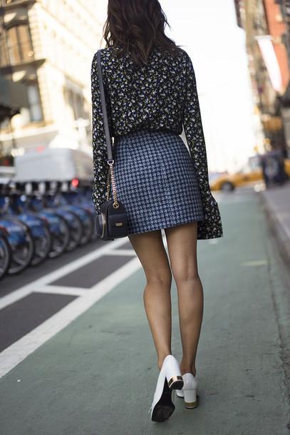 skirt, tumblr, blue skirt, printed skirt, mini skirt ... | 407 x 610 jpeg 102kB