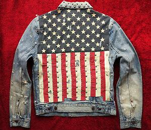 Ralph Lauren Denim and Supply USA American Flag Jacket Last One M ...
