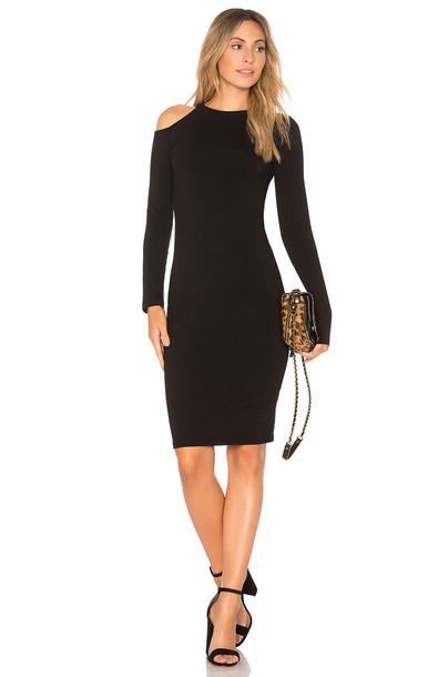 Monrow dress cut out shoulder black