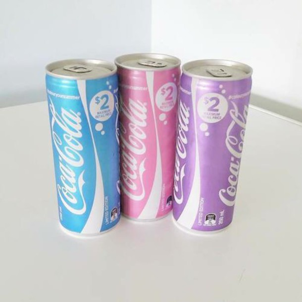 home accessory drink drinks coca cola coke coke cola color/pattern pastel