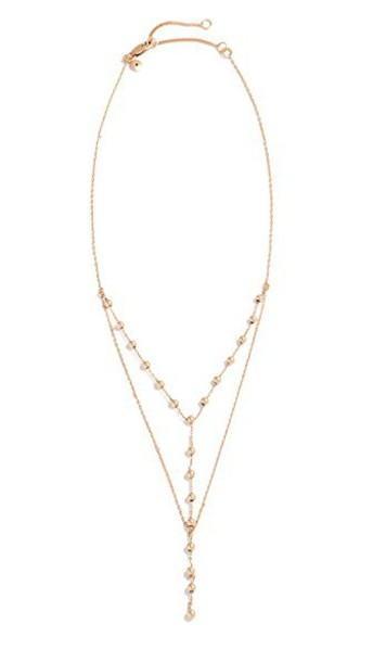 Madewell ball necklace light gold jewels